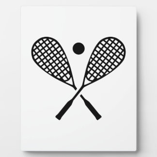 Crossed squash rackets photo plaques