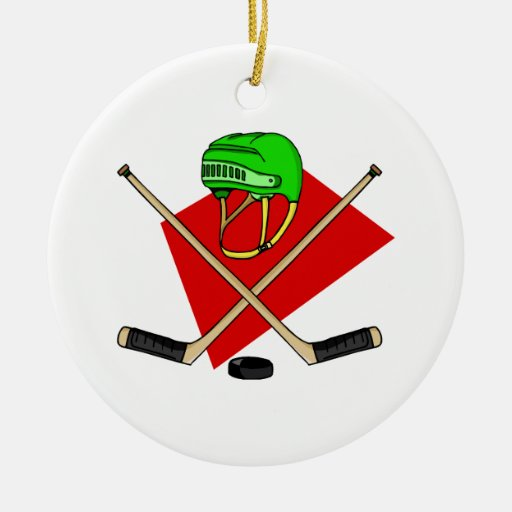 Crossed sticks & helmet Double-Sided ceramic round christmas ornament