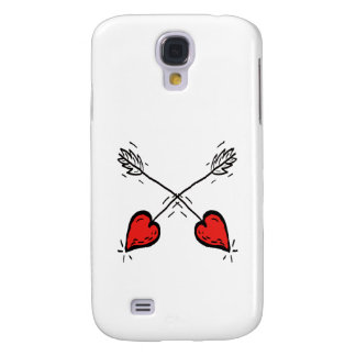 Crossed Strawberry Heart Arrows - Galaxy S4 Cover