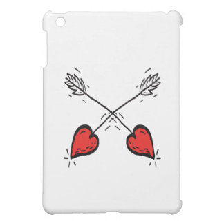 Crossed Strawberry Heart Arrows - Cover For The iPad Mini