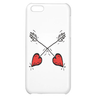 Crossed Strawberry Heart Arrows - Cover For iPhone 5C