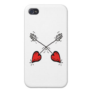 Crossed Strawberry Heart Arrows - iPhone 4/4S Case