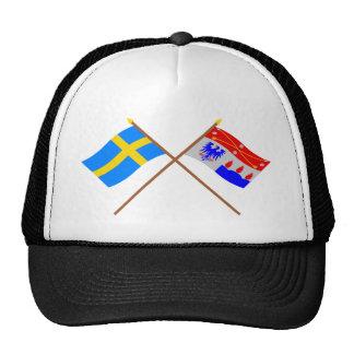 Crossed Sweden and Örebro län flags Hat