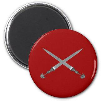 crossed swords crossed swords magnet