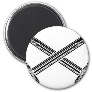 Crossed Swords Illustration Magnet