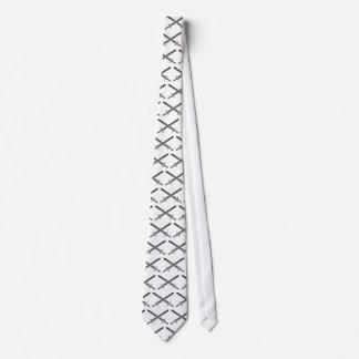 Crossed Swords Illustration Tie