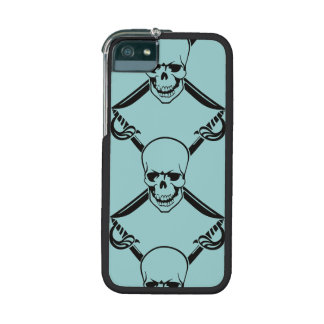 Crossed Swords with Skull Cover For iPhone 5/5S