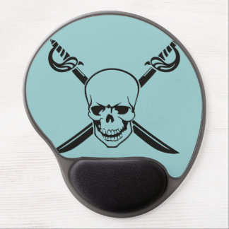 Crossed Swords with Skull Gel Mouse Mats