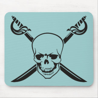Crossed Swords with Skull Mouse Pad