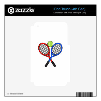 CROSSED TENNIS RAQUETS iPod TOUCH 4G SKIN