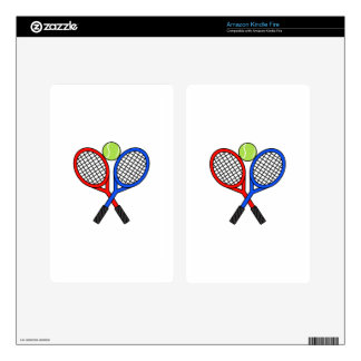 CROSSED TENNIS RAQUETS SKINS FOR KINDLE FIRE