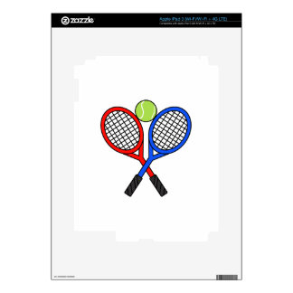 CROSSED TENNIS RAQUETS DECAL FOR iPad 3