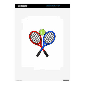 CROSSED TENNIS RAQUETS SKINS FOR THE iPad 2