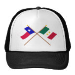 Crossed Texas and Coahuila y Tejas Flags Trucker Hats