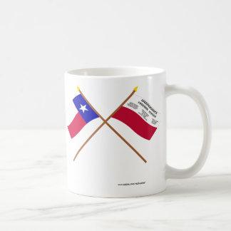 Crossed Texas and Fredonia Flags Coffee Mug
