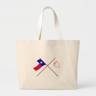 Crossed Texas and  Goliad Flags Canvas Bag