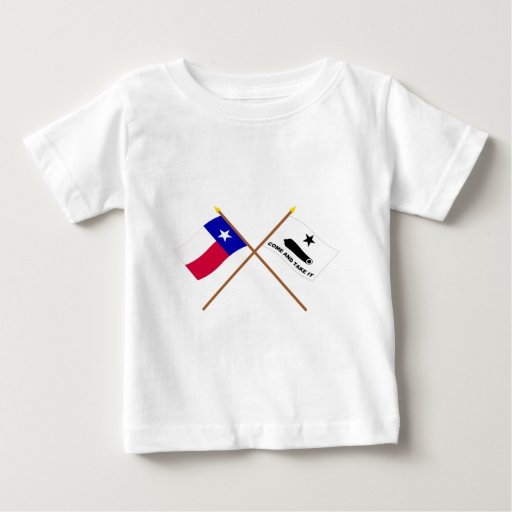 Crossed Texas and  Gonzales Flags Shirts