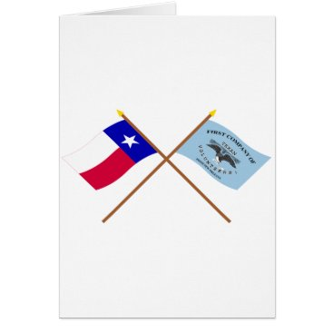 USA Themed Crossed Texas and New Orleans Greys Flags Card
