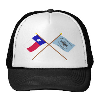 Crossed Texas and New Orleans Greys Flags Trucker Hat
