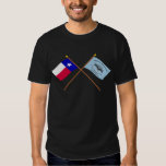 Crossed Texas and New Orleans Greys Flags T-shirt