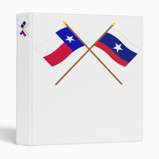 Crossed Texas and Pilot Flags 3 Ring Binders