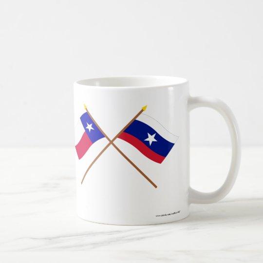 Crossed Texas and Pilot Flags Coffee Mug