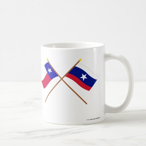 Crossed Texas and Pilot Flags Classic White Coffee Mug