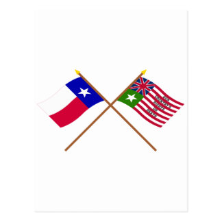 Crossed Texas and San Felipe Flags Postcard