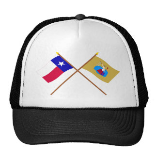 Crossed Texas and San Jacinto Flags Trucker Hat