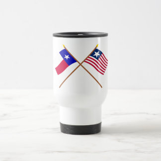 Crossed Texas Flag and Naval Ensign Mugs