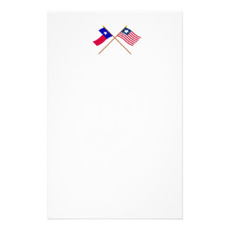 Crossed Texas Flag and Naval Ensign Stationery