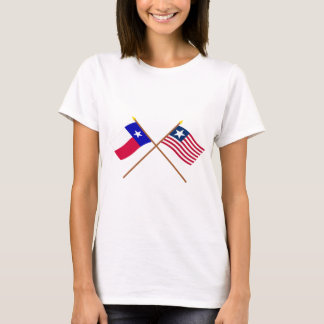 Crossed Texas Flag and Naval Ensign T-Shirt