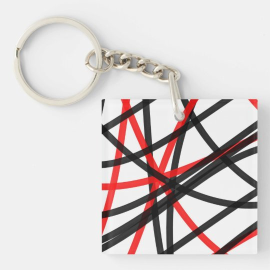 Crossed The Line Keychain