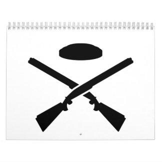 Crossed trap shooting shotguns calendar