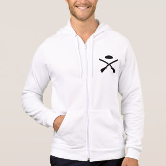 Crossed trap shooting shotguns hoodie