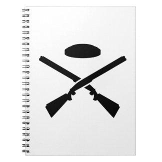 Crossed trap shooting shotguns notebook