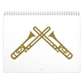 Crossed Trombone Calendar