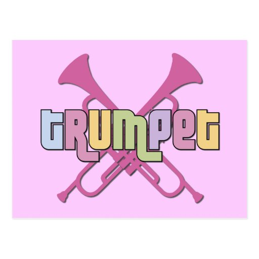 Crossed Trumpets Postcard