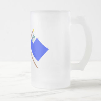 Crossed US and Connecticut Privateer Flags Mug