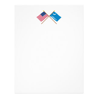 Crossed US and Fort Moultrie Flags Letterhead