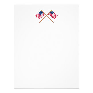 Crossed US and Frigate Alliance Flags Letterhead