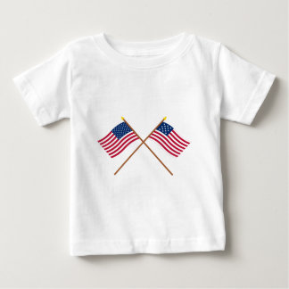 Crossed US and Frigate Alliance Flags T-shirts