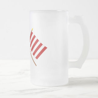 Crossed US and Liberty Tree Flags Mugs