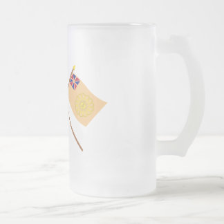Crossed US and New Hampshire 2nd Regiment Flags Mugs