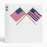Crossed US and Serapis Flags Vinyl Binder