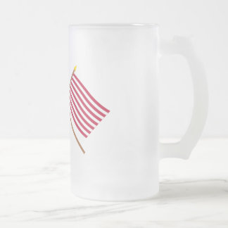 Crossed US and Sons of Liberty Flags Mug