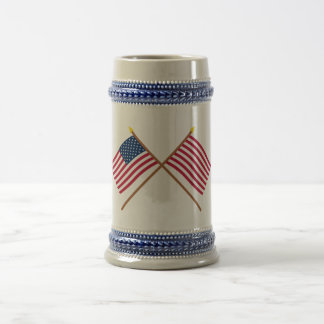 Crossed US and Sons of Liberty Flags Mugs