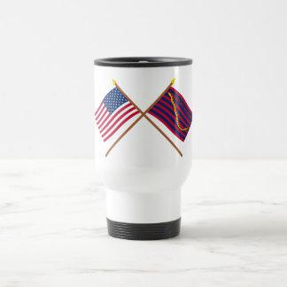 Crossed US and South Carolina Navy Flags Coffee Mug