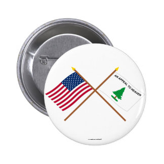 Crossed US and Washington's Cruisers Flags 2 Inch Round Button
