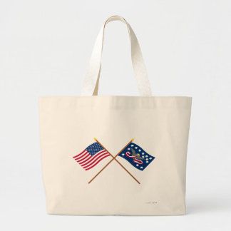 Crossed US and Whiskey Rebellion Flags Bags